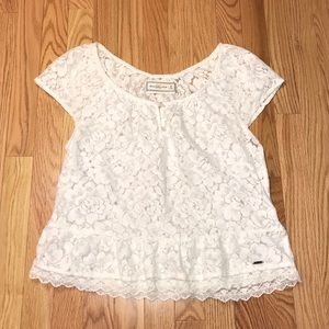 2/$25 Abercrombie Lacey Floral Top